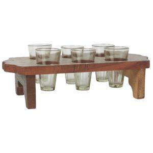 Holztablett-mit-6-Vasen