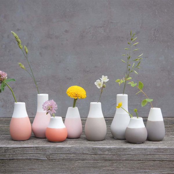 Mini Vasen grau 4er