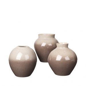3er-Set-Vase-Broste-braun