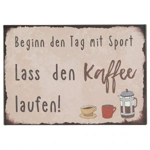 Metallschild-Kaffee