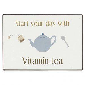 Metallschild-Vitamin-Tea
