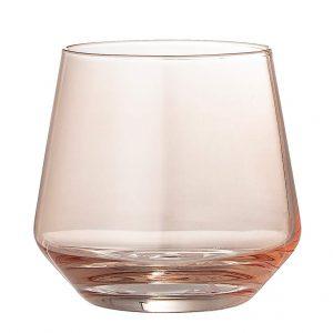 Trinkglas-rosy-Bloomingville