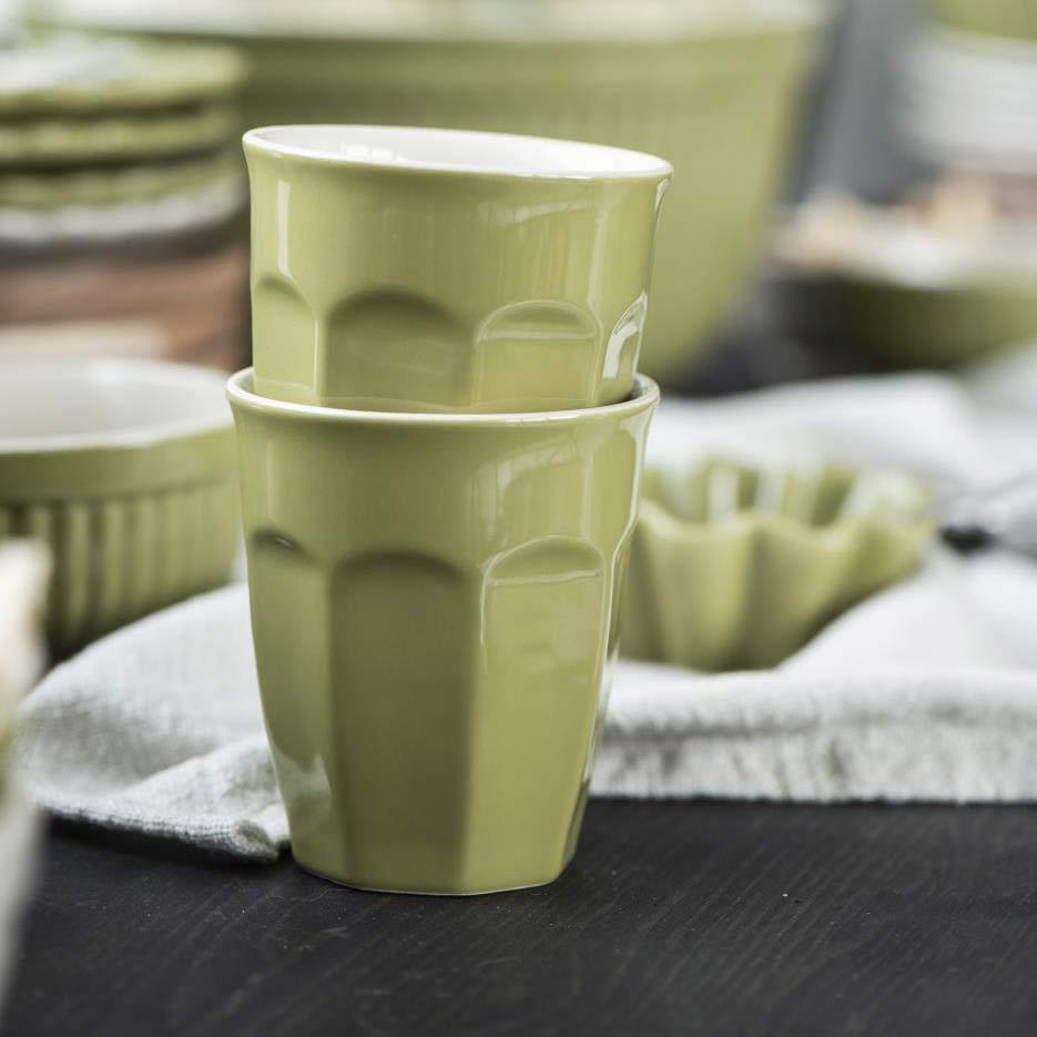 Latte-Becher-grün-Mynte