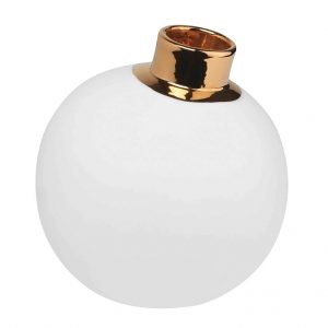 Vase-Schneeball-gold