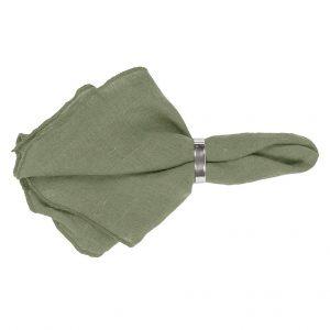 Broste-Serviette-olivgrün
